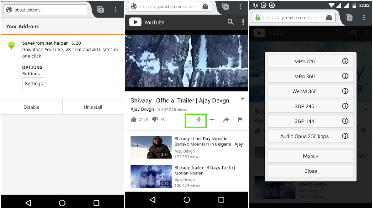 App download youtube music android