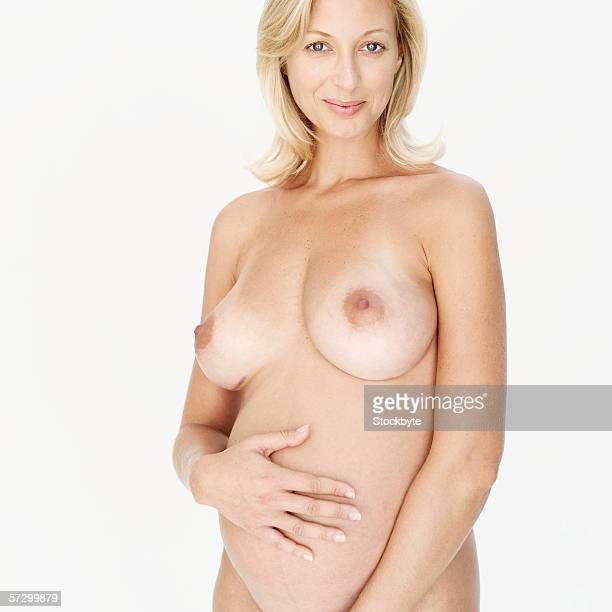 Young nude pregnant women