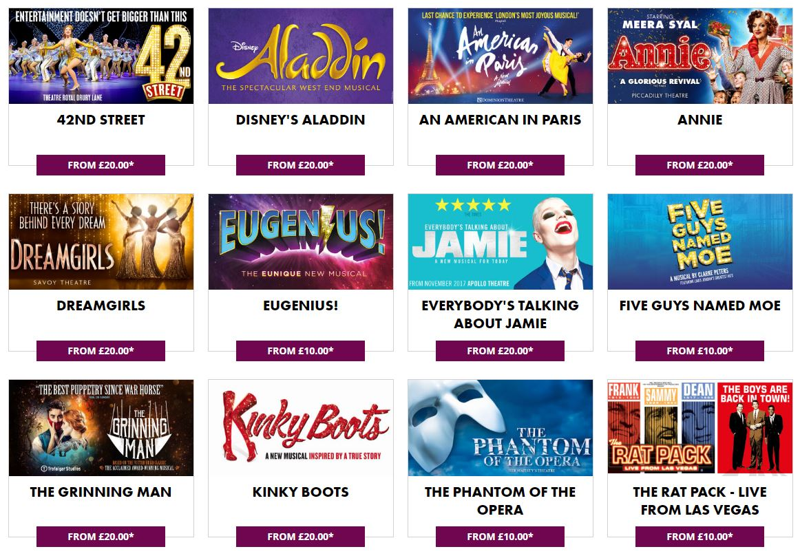 New musicals this year